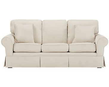 Reese White Medium Sofa