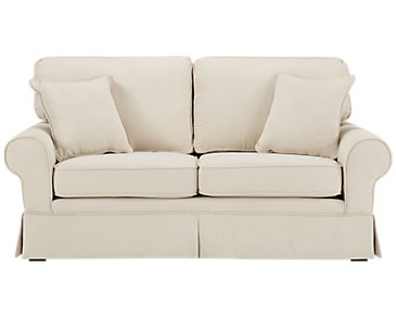 Reese White Small Sofa