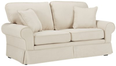 Superieur Reese White Fabric Sofa. VIEW LARGER