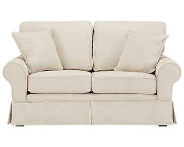 Reese White Loveseat