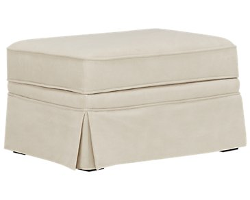Reese White Cocktail Ottoman