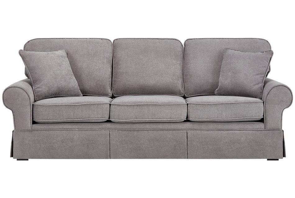 Reese Dark Gray Fabric Sofa | Living Room - Sofas | City ...