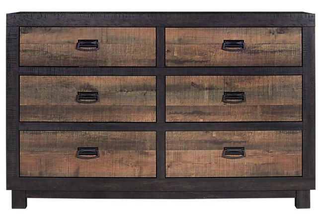 Harlington Dark Tone Wood Dresser