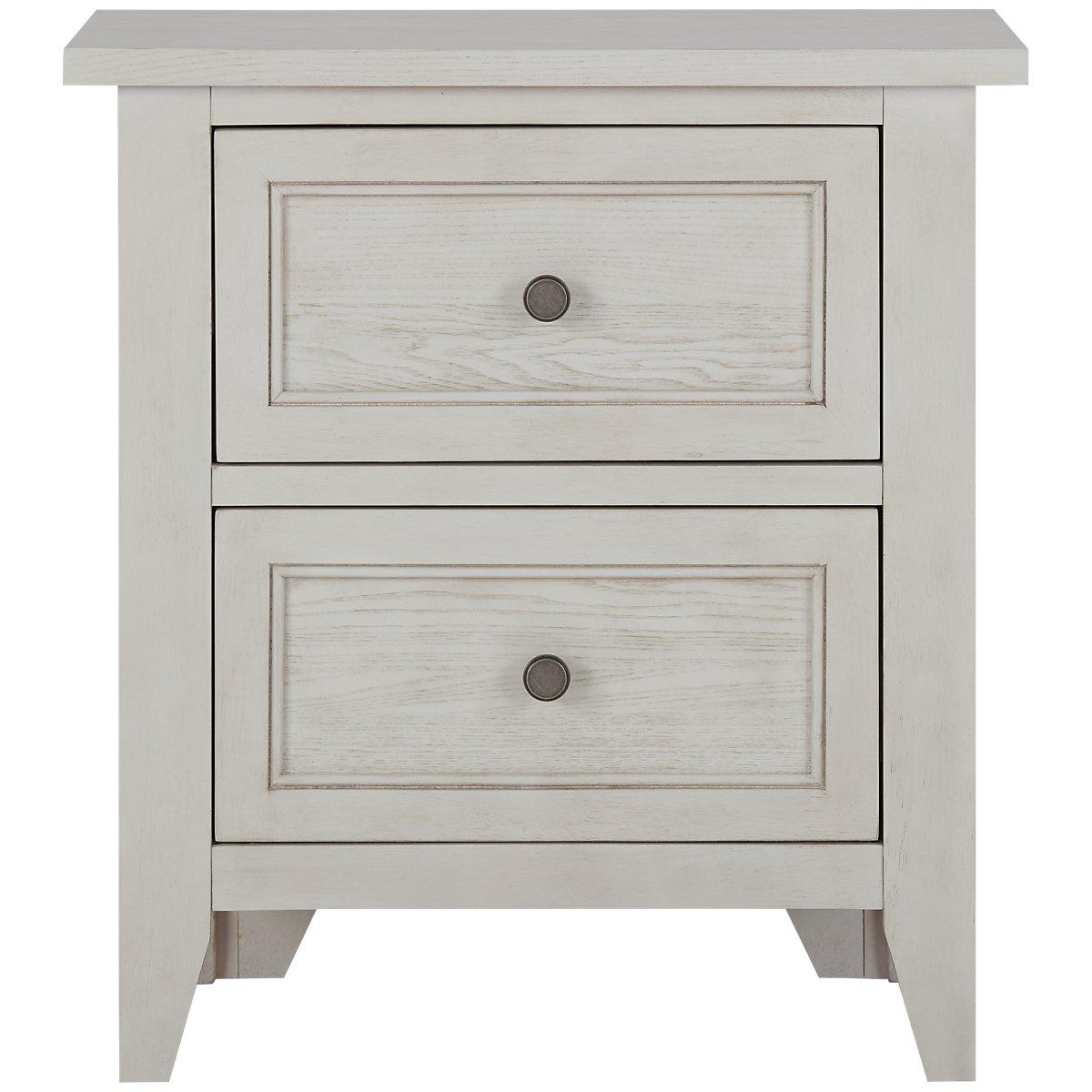 Dawson Ivory Wood Drawer Nightstand