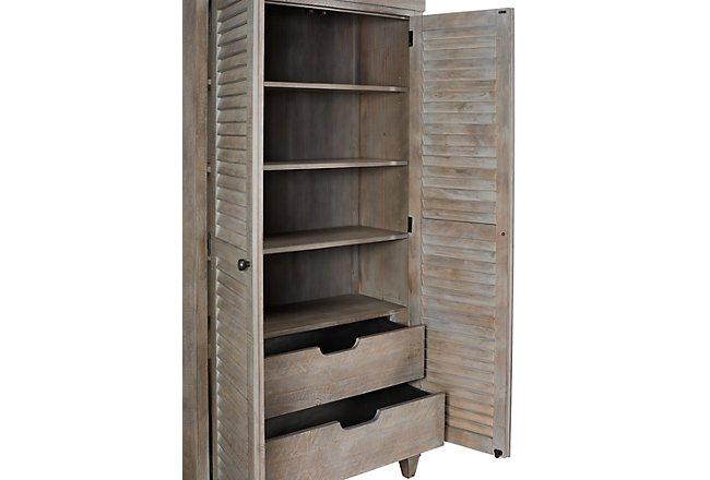 Sonoma Light Tone Wood Storage Cabinet