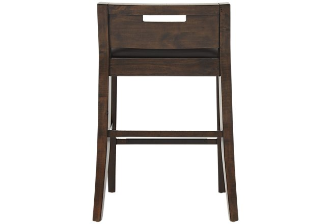 Pine Dark Tone Wood Desk Chair