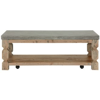 Obrian Wood Rectangular Coffee Table