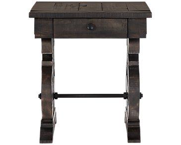 Sonoma Dark Tone Storage End Table