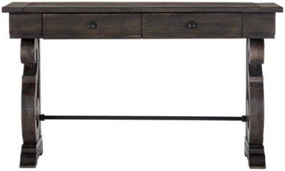 Charmant Sonoma Dark Tone Wood Storage Sofa Table ...