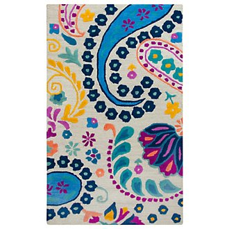Paisley Multicolored 3X5 Area Rug