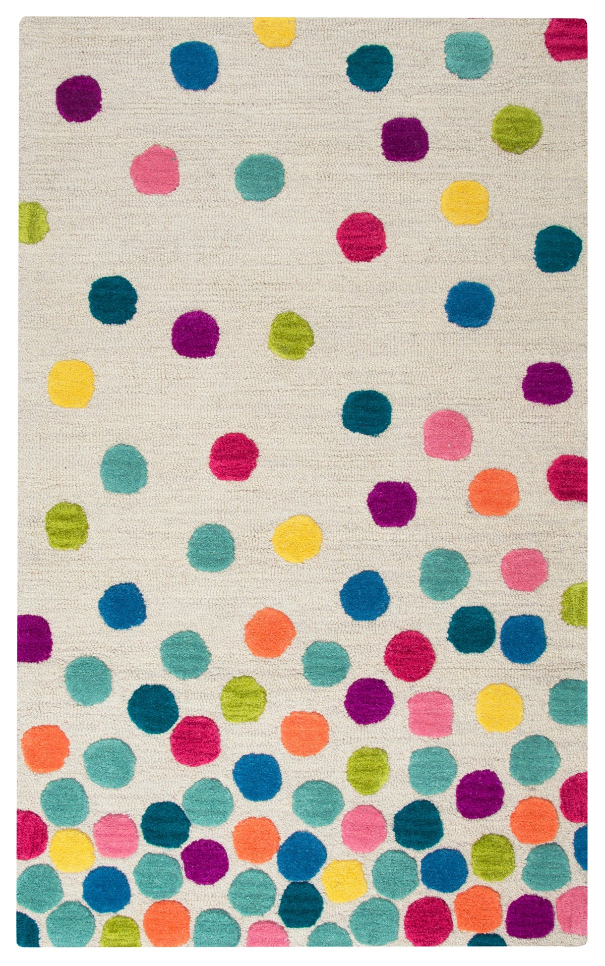 Confetti Multicolored Wool 3x5 Area Rug