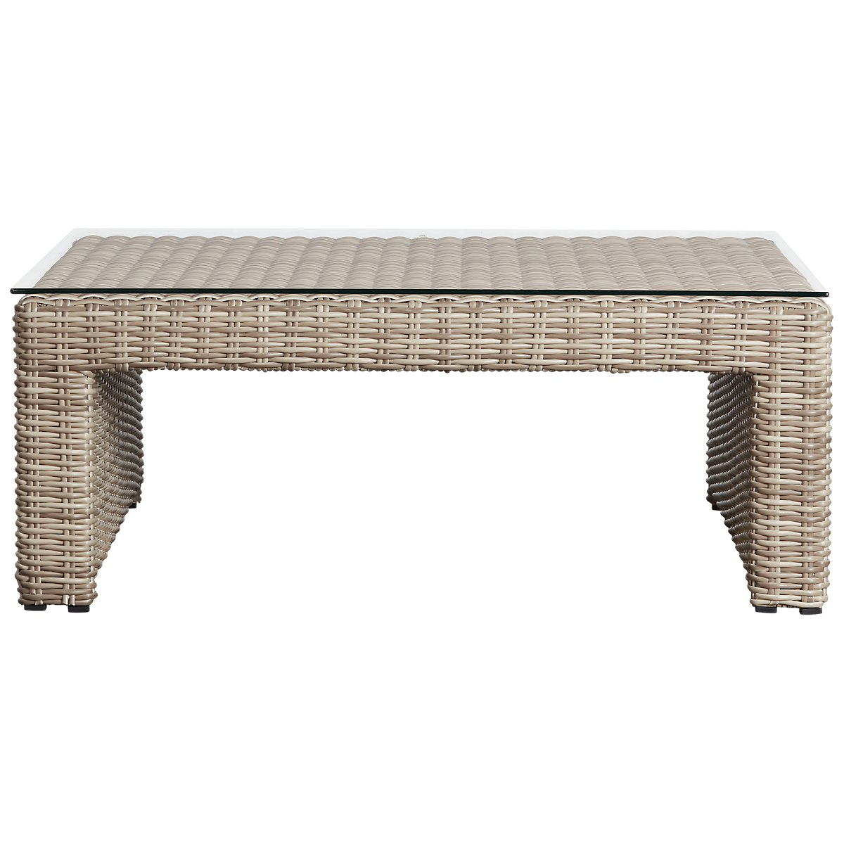 Square Coffee Table Grey: Raleigh Gray Woven Coffee Table