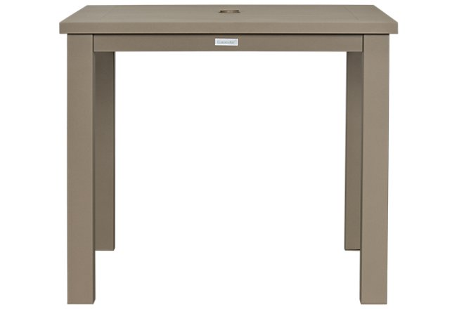 Raleigh Taupe Aluminum Square Table