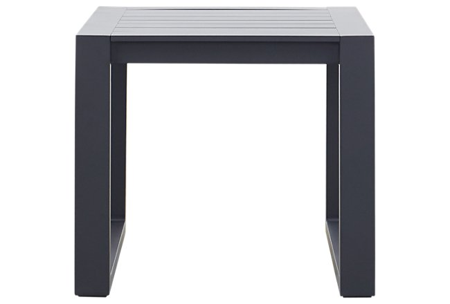 Linear Dark Gray Aluminum End Table