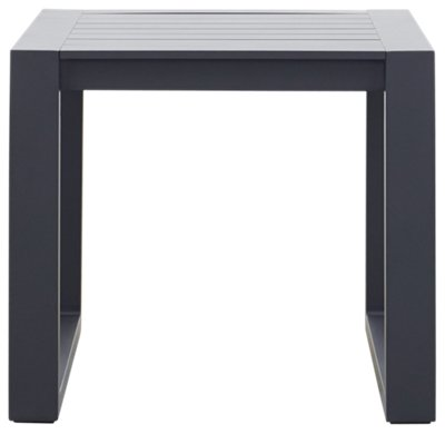 Linear Dark Gray Aluminum End Table ...