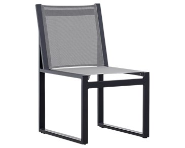 Linear Dark Gray Aluminum Sling Chair