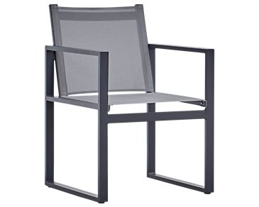 Linear Dark Gray Sling Arm Chair
