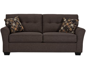 Laryn Dark Gray Microfiber Sofa