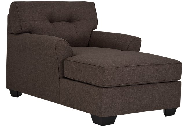 Laryn Dark Gray Microfiber Chaise