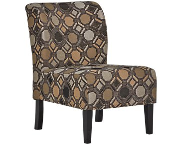 Laryn Multicolored Microfiber Accent Chair