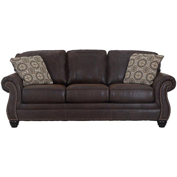 Image Of Breville Dark Brown Microfiber Sofa With Sku 1638390