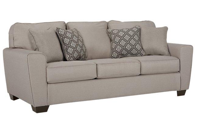 Calicho Light Taupe Microfiber Sofa