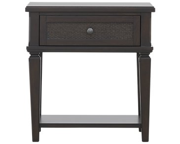 Tahiti Dark Tone 1-Drawer Nightstand