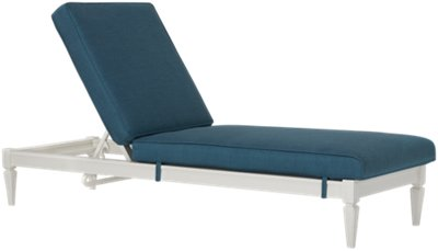Charleston White Cushioned Chaise