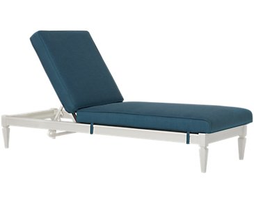 Charleston White Cushioned Chaise