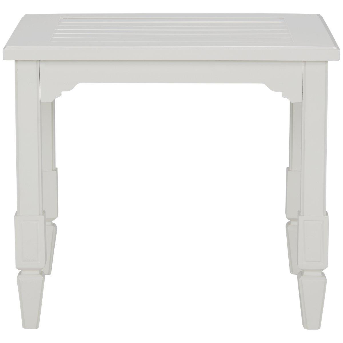 Charleston White End Table