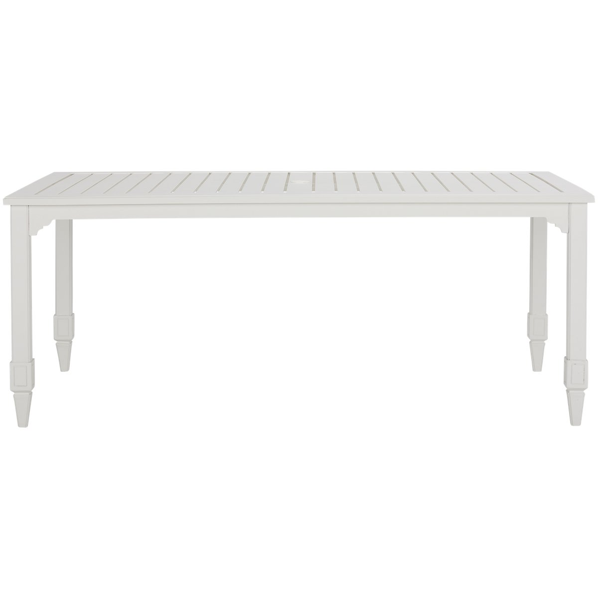 Charleston White Rectangular Table