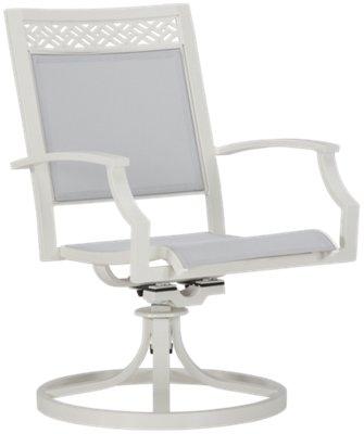 Charleston White Swivel Sling Chair