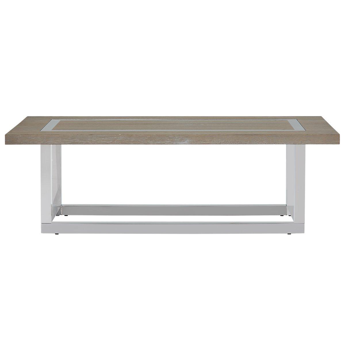 Berlin Light Tone Wood Rectangular Coffee Table