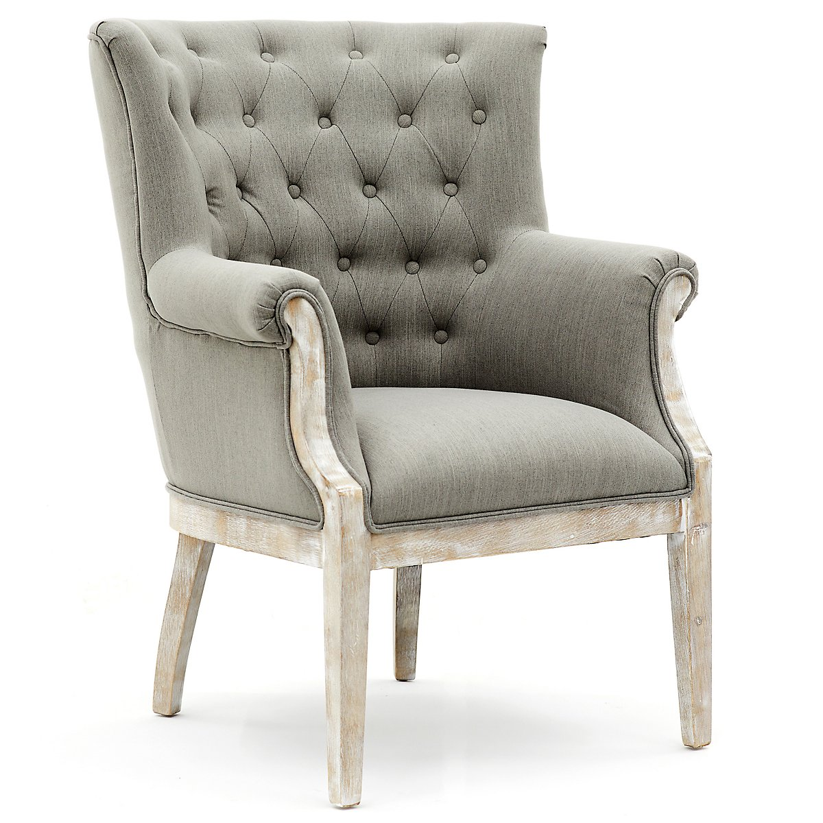 Home Accents Furniture: Paxton Gray Fabric Accent Chair