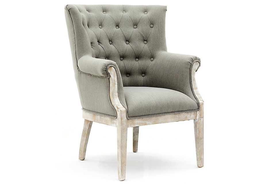 Miraculous Paxton Gray Fabric Accent Chair Home Accents Accent Andrewgaddart Wooden Chair Designs For Living Room Andrewgaddartcom