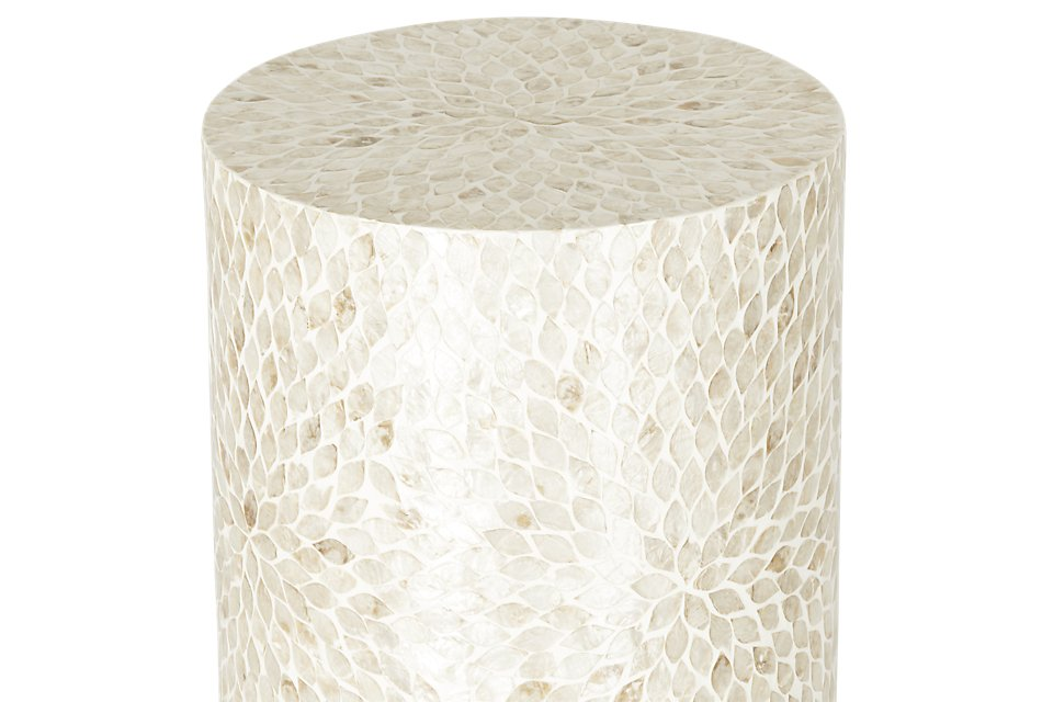 Capiz Light Beige   Accent Table