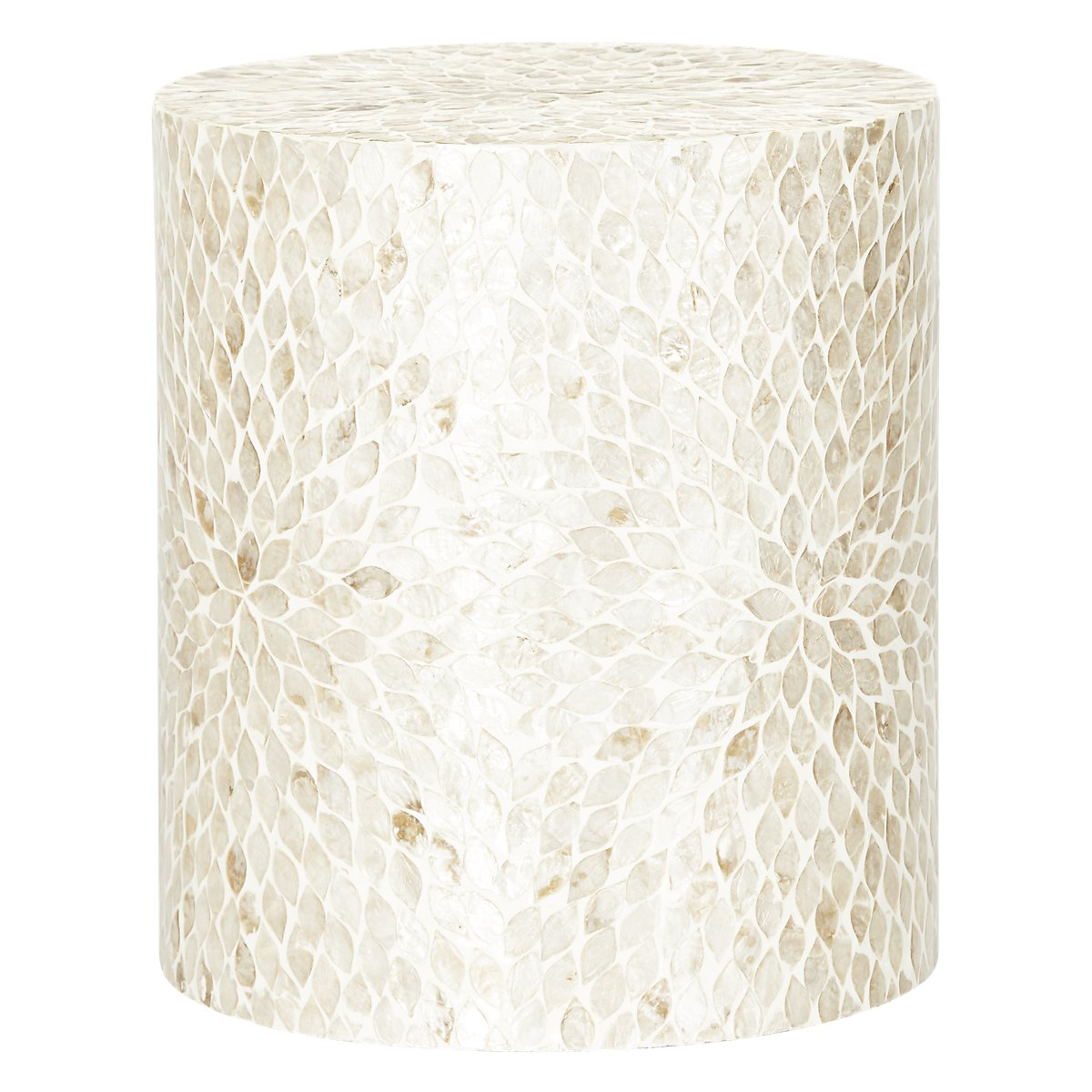 Accent Pieces For Home: Capiz Light Beige Accent Table