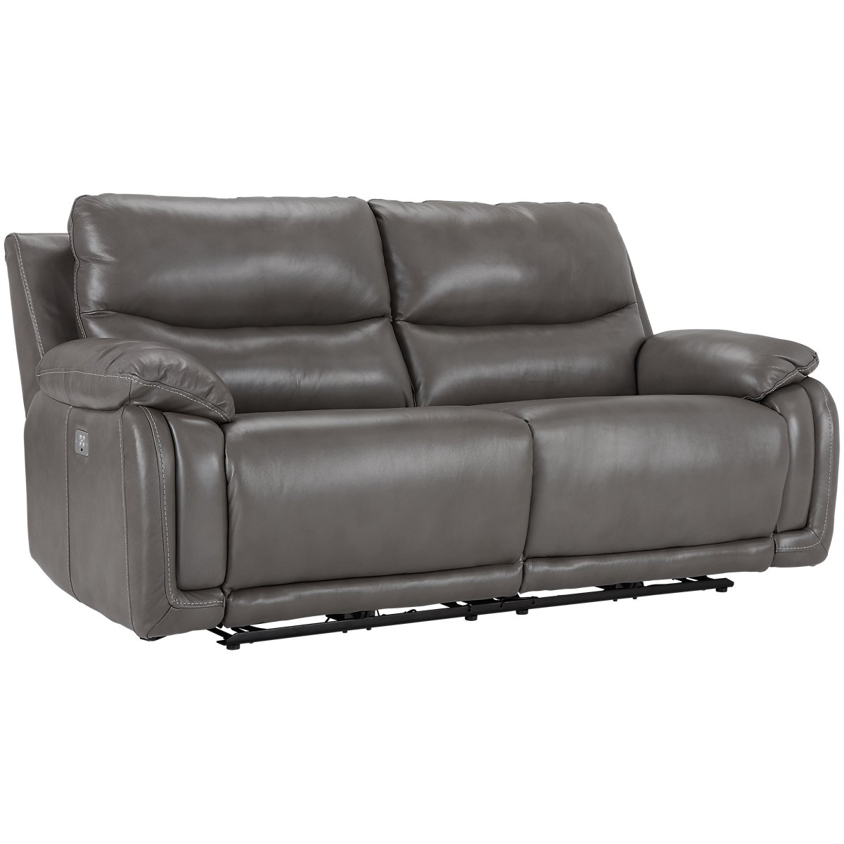 Vince Gray Leather Amp Vinyl Power Reclining Sofa