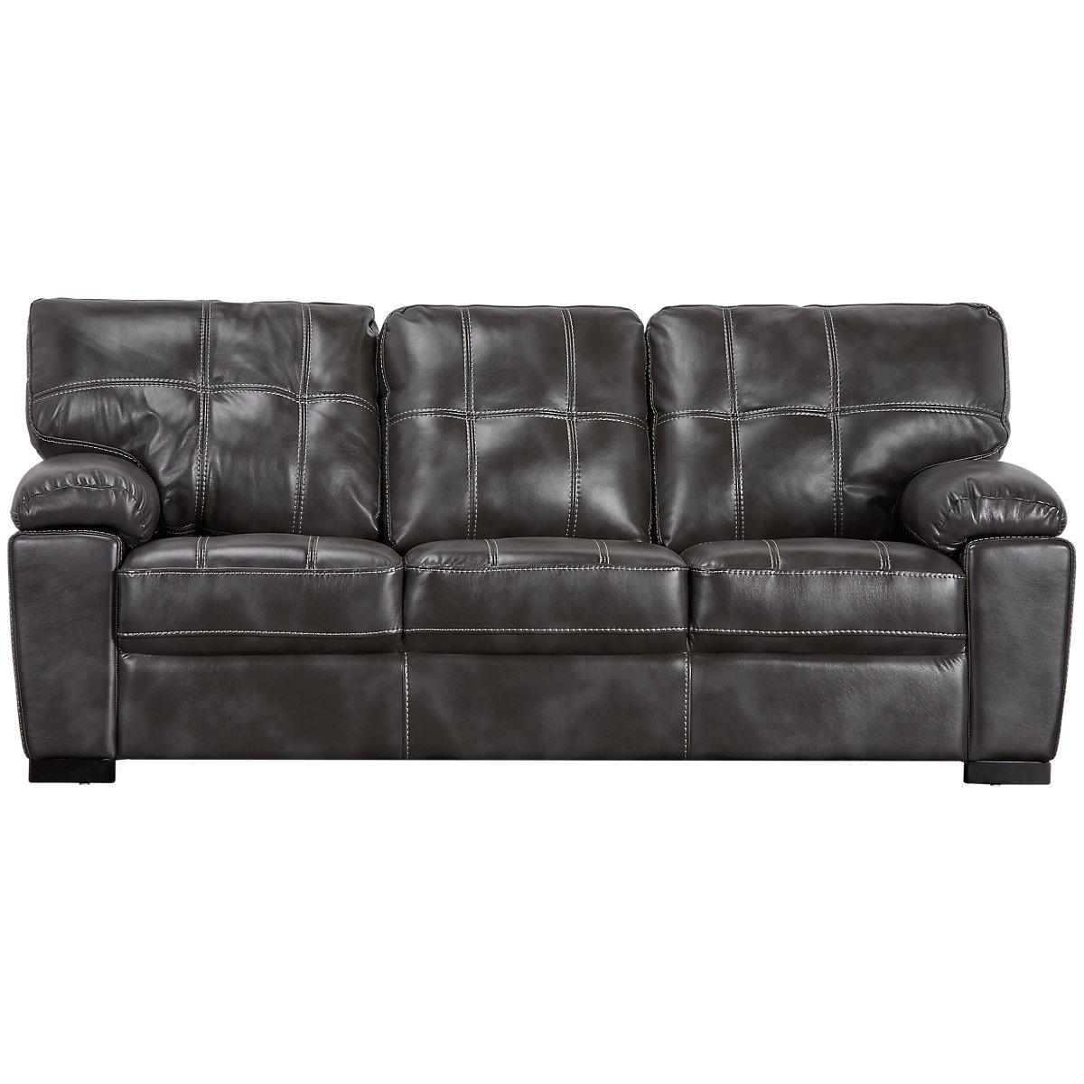 Henry Gray Microfiber Sofa