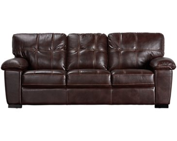Henry Dark Brown Microfiber Sofa