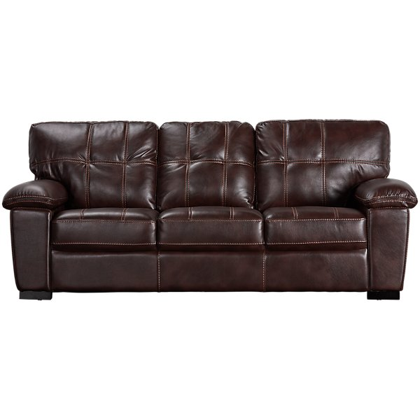 Henry Dark Brown Microfiber Sofa | Living Room - Sofas | City Furniture