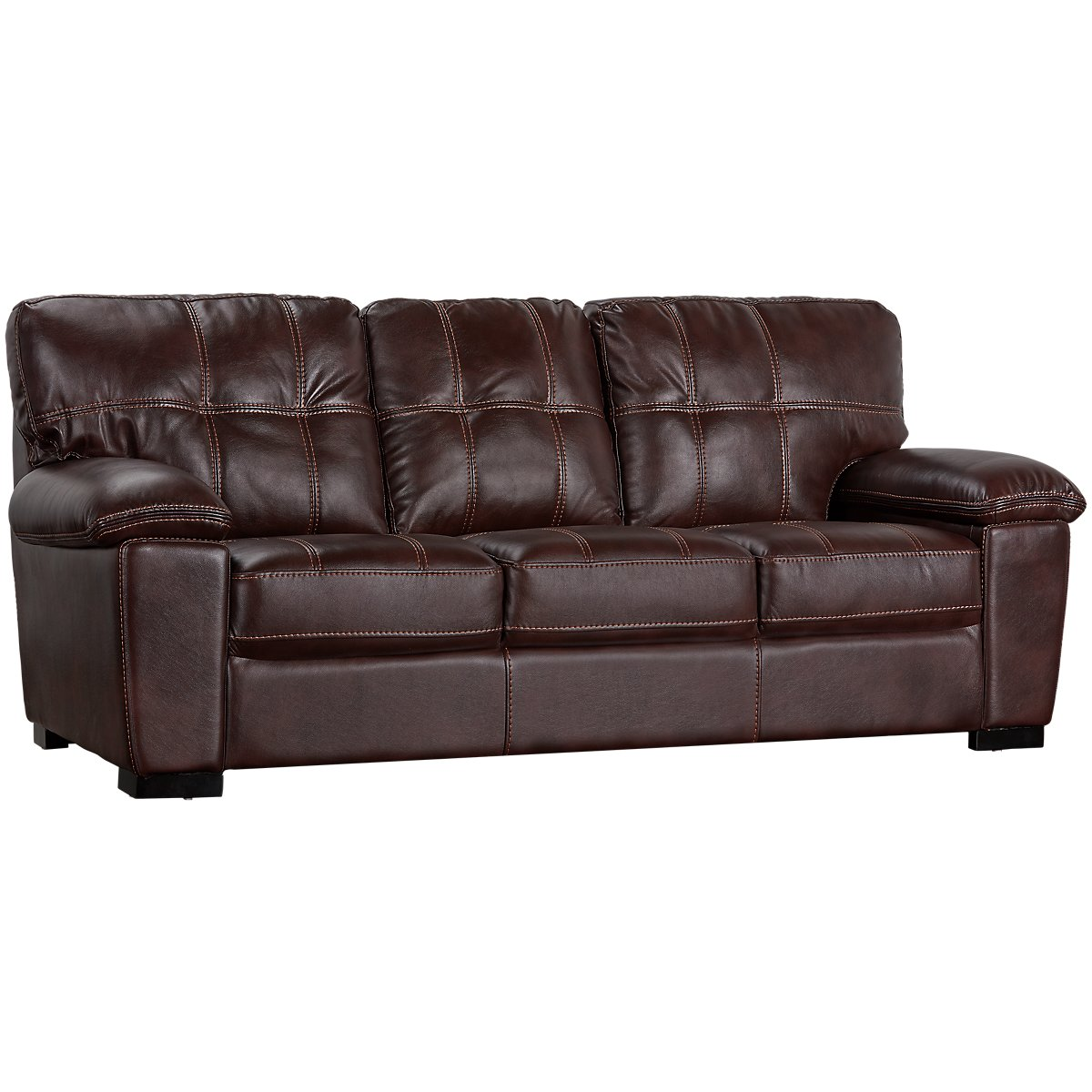 Henry Dark Brown Microfiber Sofa | Living Room - Sofas | City Furniture