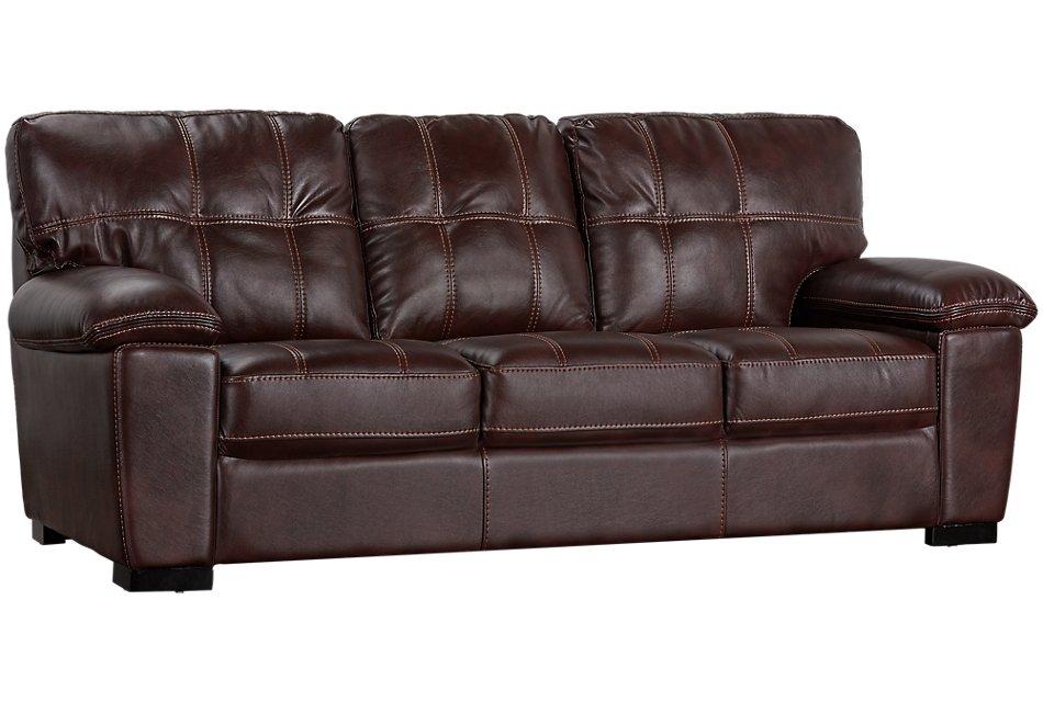 Henry Dark Brown Micro Sofa | Living Room - Sofas | City ...