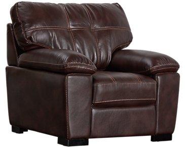 Henry Dark Brown Microfiber Chair