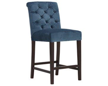 """Sloane2 Blue 24"""" Upholstered Barstool"""