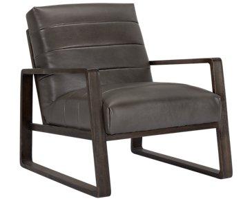 Lazio Dark Gray Microfiber Accent Chair