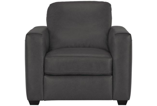 Lane Dark Gray Leather & Vinyl Chair