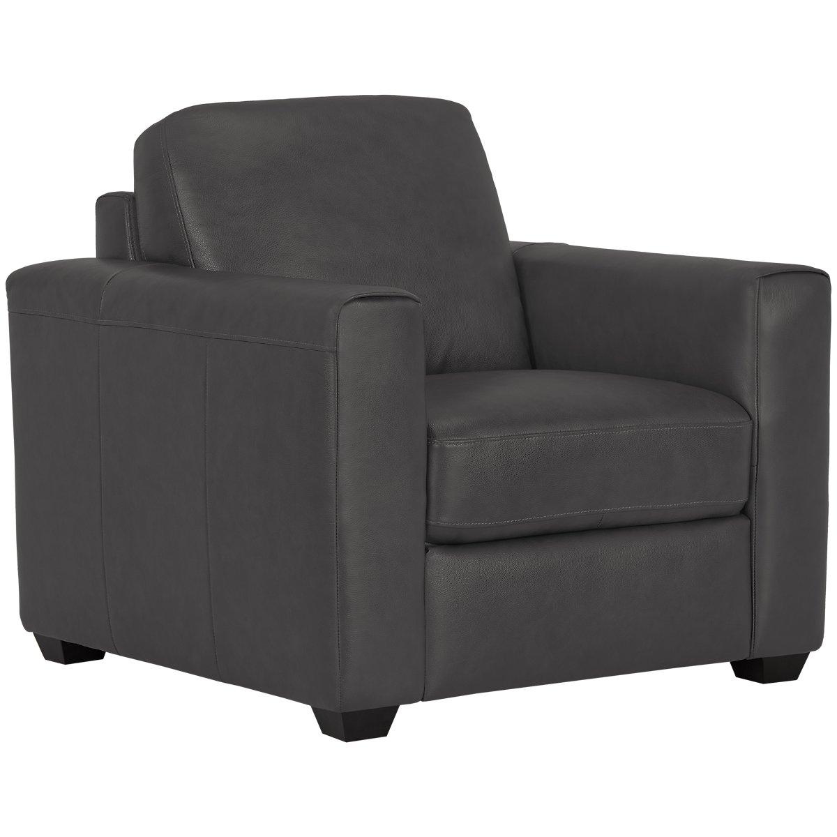 Lane Dark Gray Leather Amp Vinyl Chair