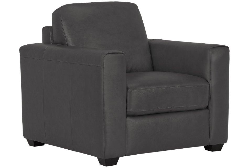Lane Dark Gray Lthr/vinyl Chair | Living Room - Chairs ...