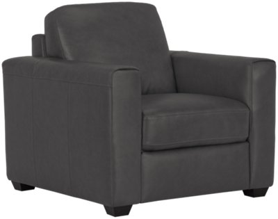 Lane Dark Gray Leather u0026 Vinyl Chair  sc 1 st  City Furniture & City Furniture: Lane Dark Gray Leather u0026 Vinyl Chair